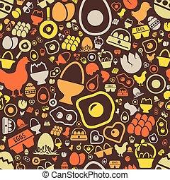 mönster, ägg, seamless