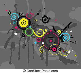 mönster, abstrakt, cirkel, bakgrund