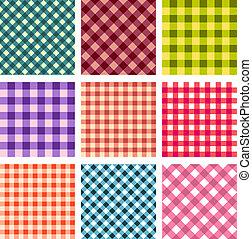 mönster, abstrakt, fyrkant, sätta, seamless