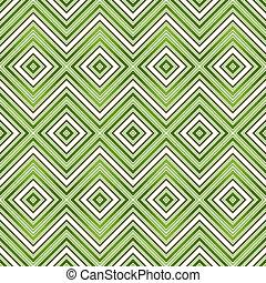 mönster, abstrakt, grön, seamless, sicksack