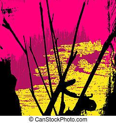 mönster, abstrakt, graffiti, färgad