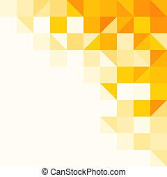 mönster, abstrakt, gul