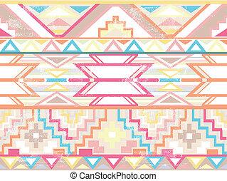 mönster, abstrakt, seamless, aztekisk