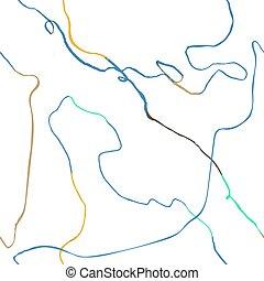 mönster, abstrakt, seamless, oavgjord, doodles, hand, fodrar