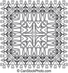 mönster, abstrakt, seamless, skissera