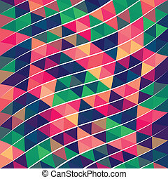 mönster, abstrakt, triangel, bildpunkt