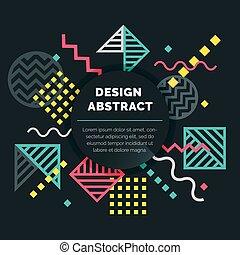 mönster, abstrakt, vektor, design, bakgrund, geometrisk