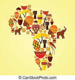 mönster, afrika, seamless