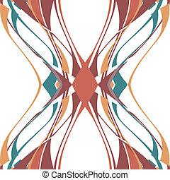 mönster, av, vertikal