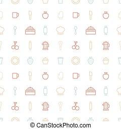 mönster, bageri, ikon