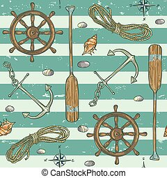 mönster, bakgrund, flotta, nautisk