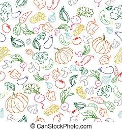 mönster, bakgrund, grönsaken, färg, seamless