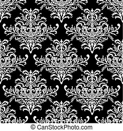 mönster, barock, vektor, seamless