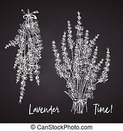 mönster, begrepp, blomma, bugar, söt, provence, chalkboard, ...