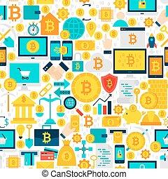 mönster, bitcoin, seamless