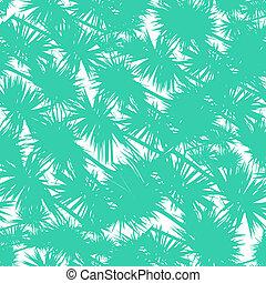 mönster, bladen, seamless, stylized, vektor, palm