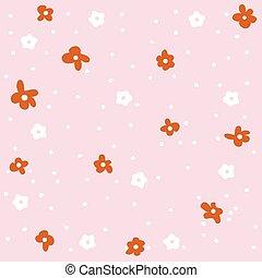 mönster, blomningen, seamless