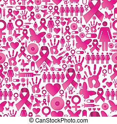 mönster, cancer, bringa medvetenhet