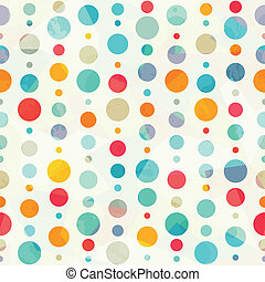 mönster, cirkel, färgad, seamless