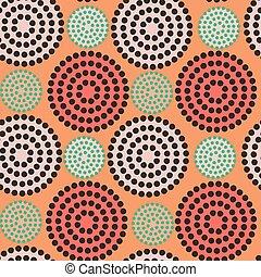mönster, cirkel, seamless