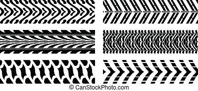 mönster, däck