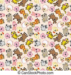 mönster, djur, seamless