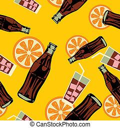 mönster, dricka, seamless