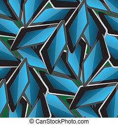 mönster, elektronisk, seamless, kompress