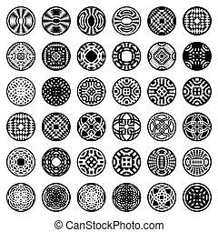 mönster, elementara, design, circle.
