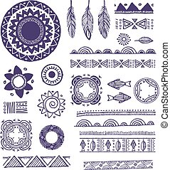 mönster, elementara, mandala, agremanger, bakgrund, runda, ...