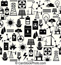mönster, energi, icon., bakgrund, seamless