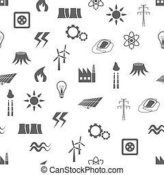 mönster, energi, seamless