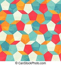 mönster, färgad, mosaik, seamless
