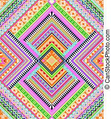mönster, färgrik, aztekisk