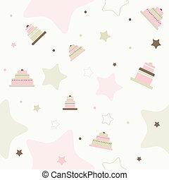 mönster, födelsedag, seamless