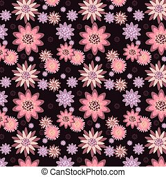 mönster, flowers., seamless