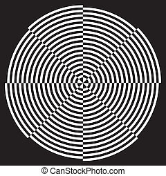 mönster formge, spiral, illusion