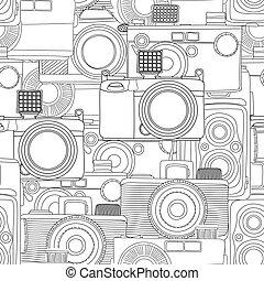 mönster, fotografi, seamless