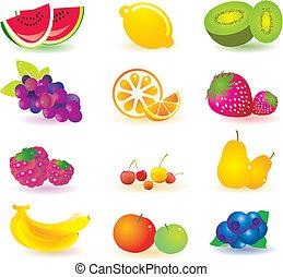 mönster, frukt