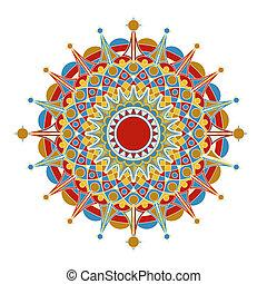 mönster, geometrisk, radialdäck