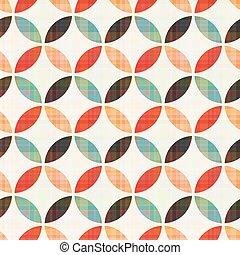 mönster, geometrisk, seamless, cirkulär