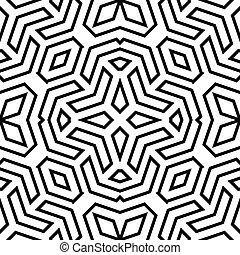 mönster, geometrisk, vektor, abstrakt, seamless