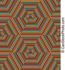 mönster, geometrisk, vektor, seamless, retro
