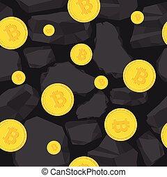mönster, gruvdrift, bitcoin, seamless