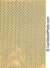 mönster, hål, gul, vertikal