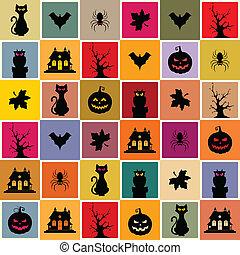 mönster, halloween, seamless