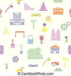 mönster, icon., seamless, konstruktion, bakgrund