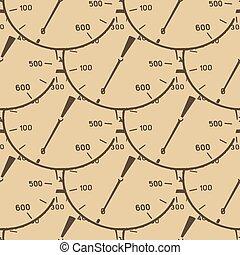 mönster, illustration, av, a, tryck, meter, mätare