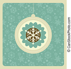 mönster, jul, bakgrund, retro