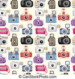 mönster, kamera, seamless